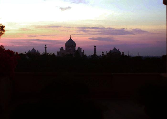 tajmahal sunset