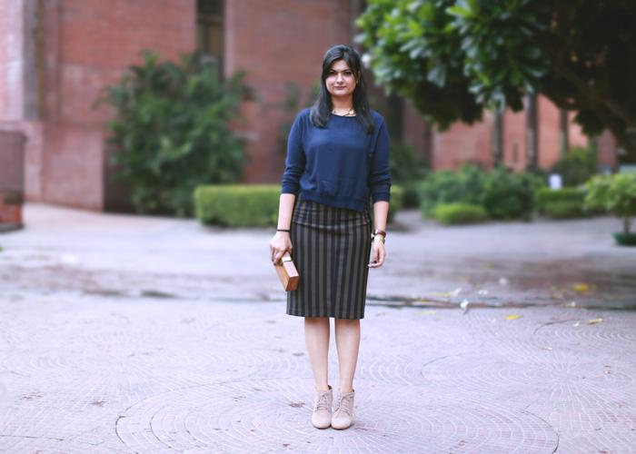 cane stripe skirt