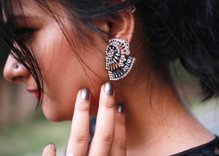 jewel encrusted earrings