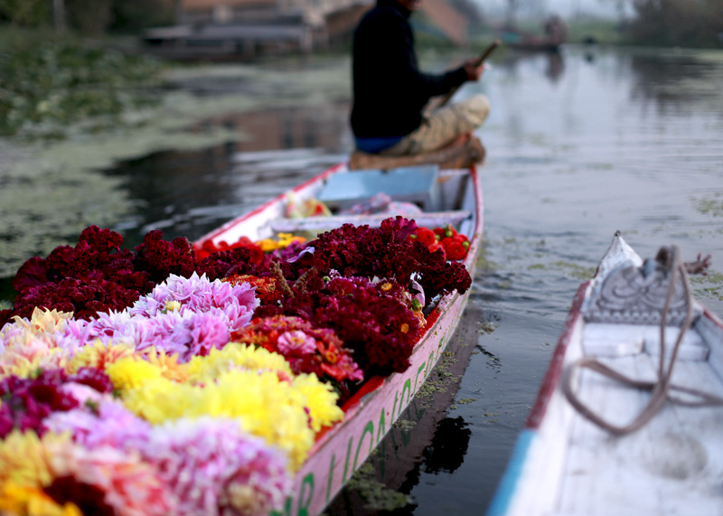 morning market dal lake