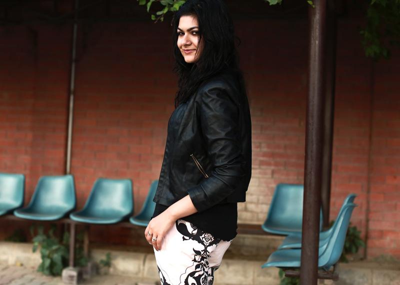 black leather jacket styling