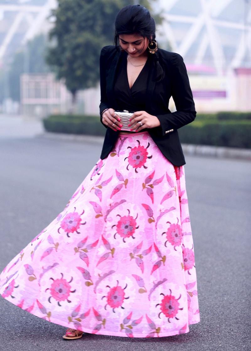 pink anupamaa maxi skirt