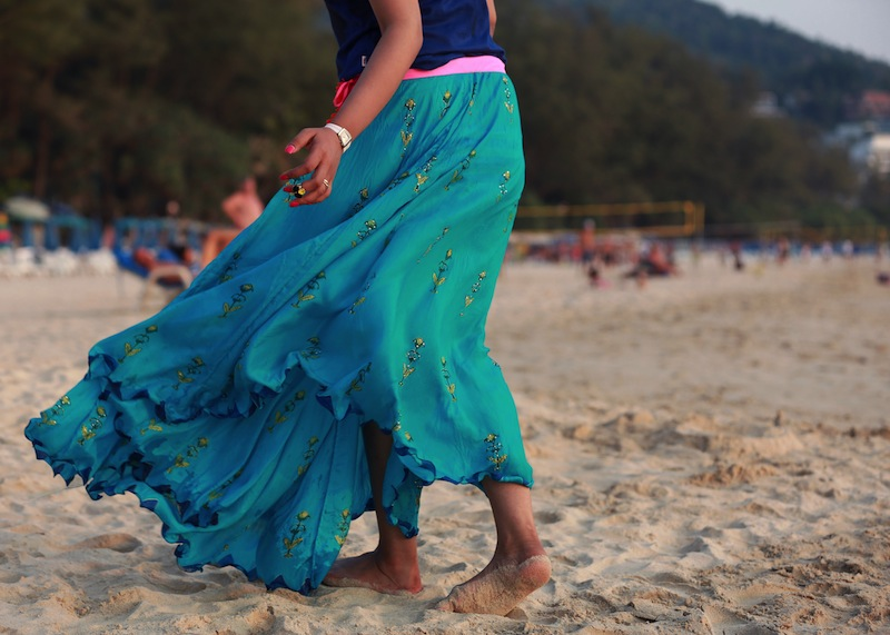 anupama dayal skirt blue