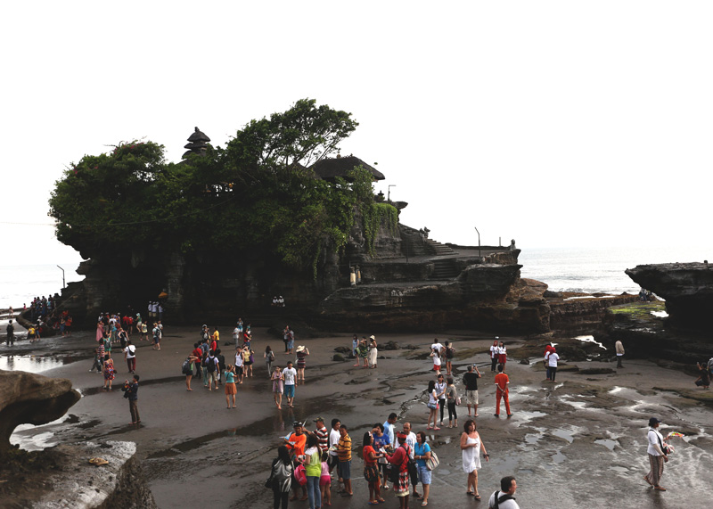 From far and above - Tanah Lot Temple
