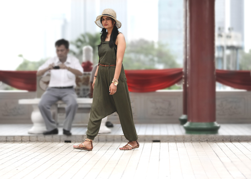 khaki-green-jumpsuit