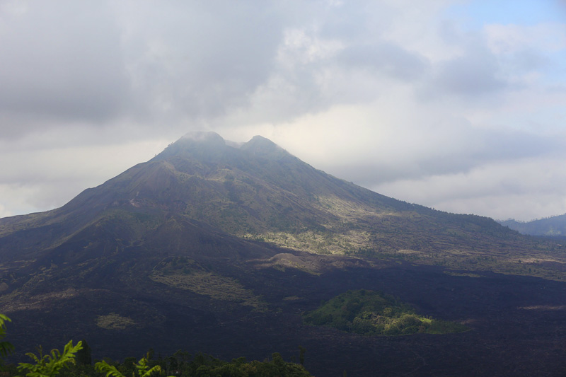 The first view of Mount Batur. Absolutely breathtaking.