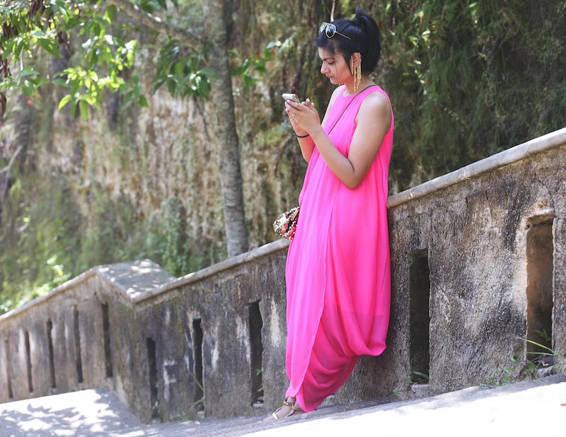 neon pink dress