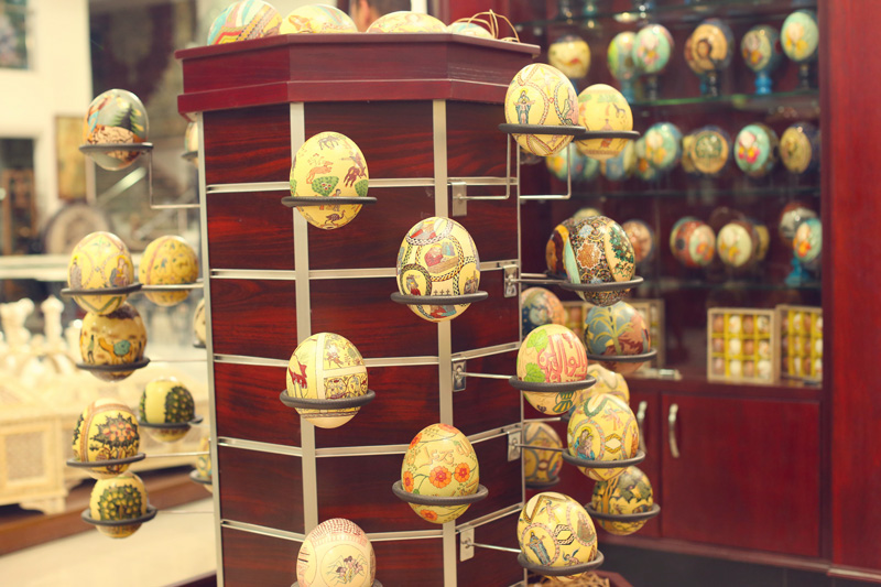 Easter eggs painted beautifully by artisans