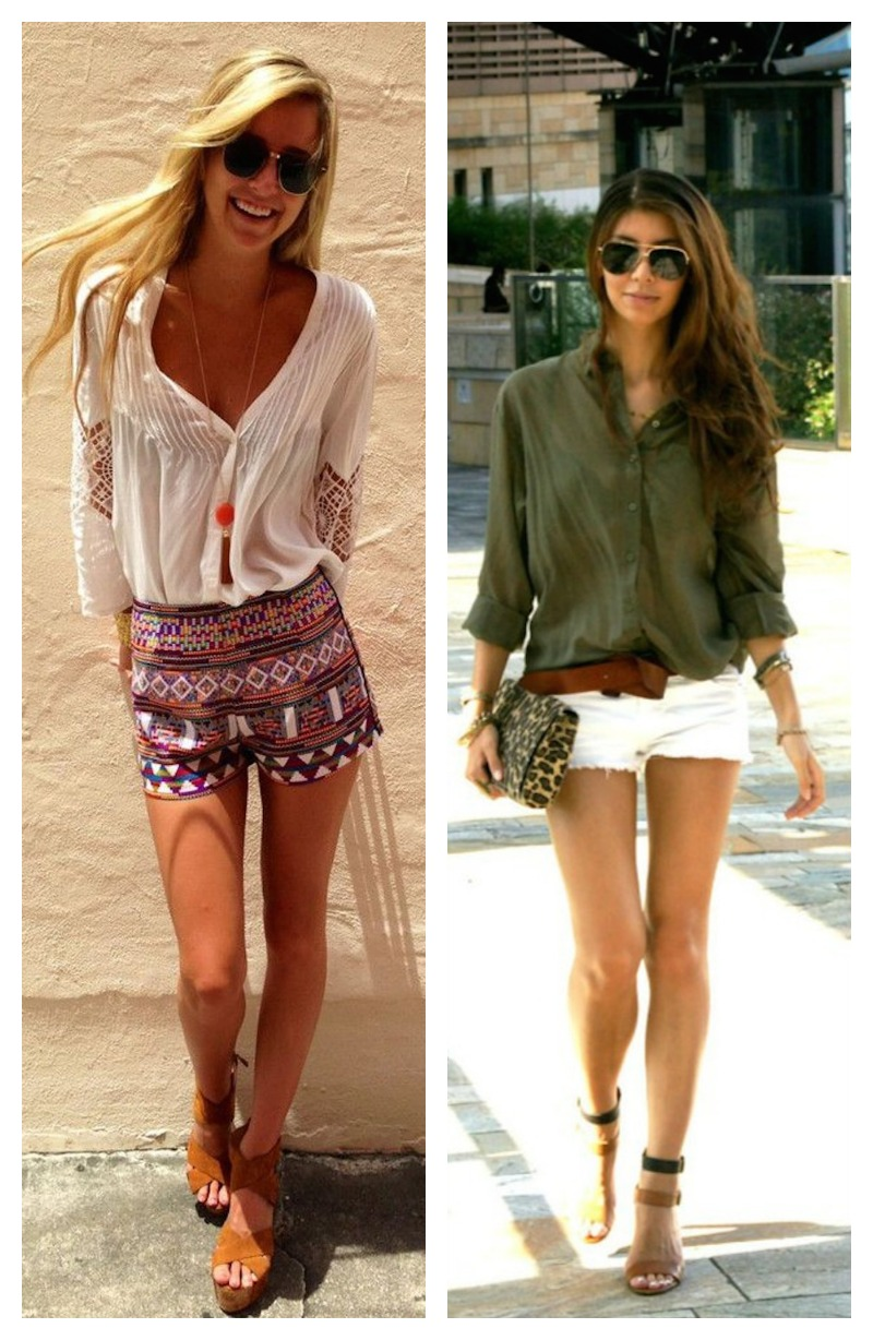 17 Ways to Style Shorts for SummersFaux Pas