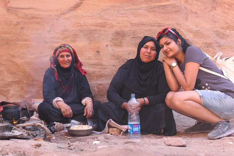 Got invited for a humble meal by these lovely ladies on our way up!! People really shower you with their love in Jordan!