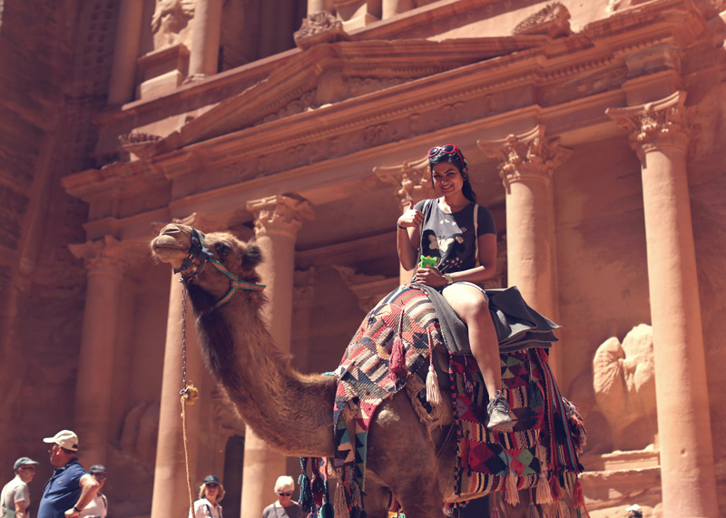 did the camel ride. My camel's name was Elian! : D