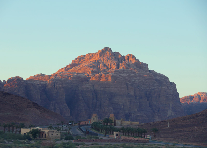 the first view of Wadi Rum Desert