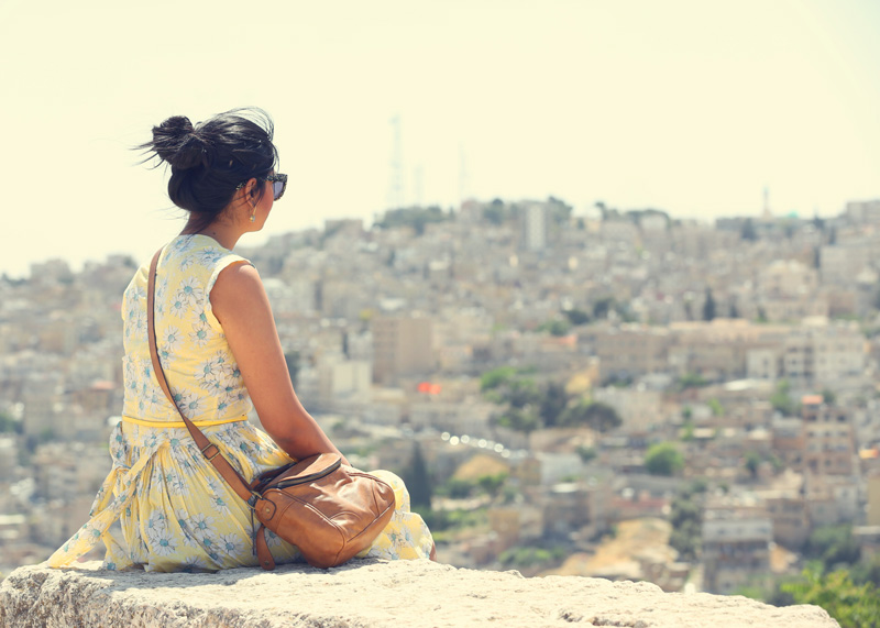 sitting on top of the city of Amman