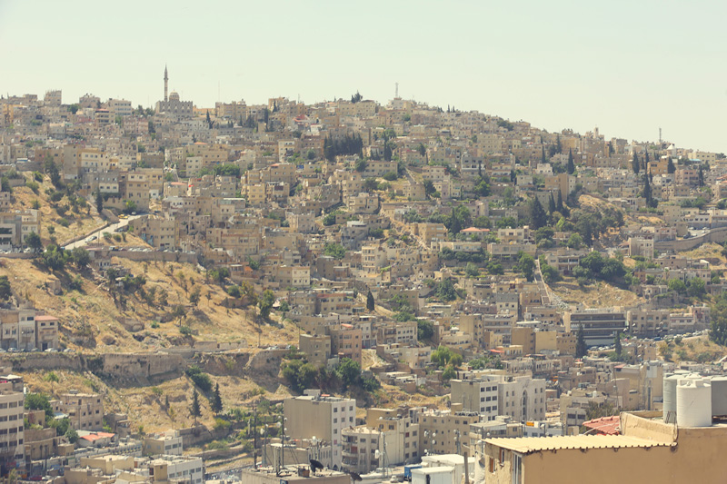 the bird's eye view of Amman