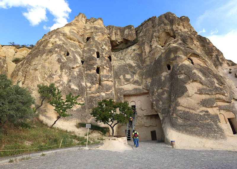 The Goreme Open-Air Museum resembles a vast monastic complex composed of scores of refectory monasteries placed side-by-side, each with its own fantastic church.