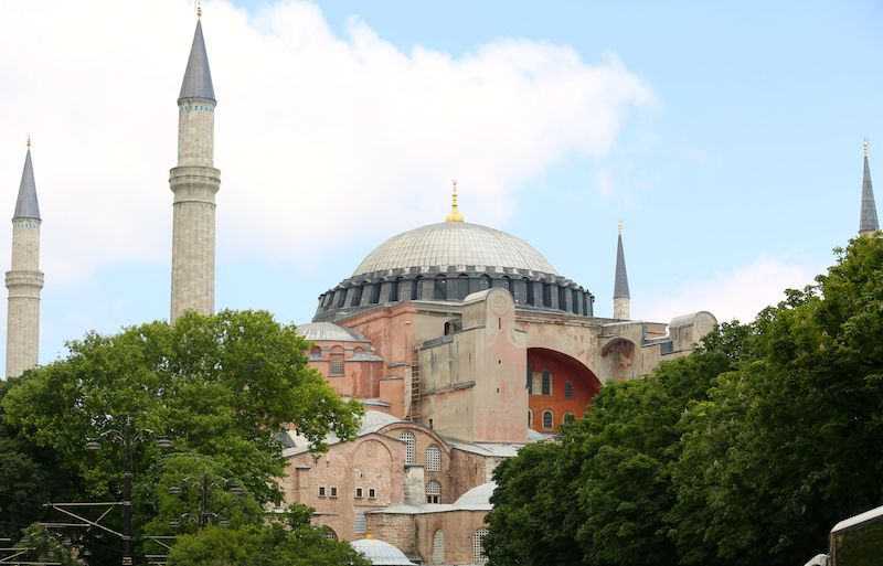 Hagia Sophia is a former Greek Orthodox patriarchal basilica (church), later an imperial mosque, and now a museum in Istanbul, Turkey.