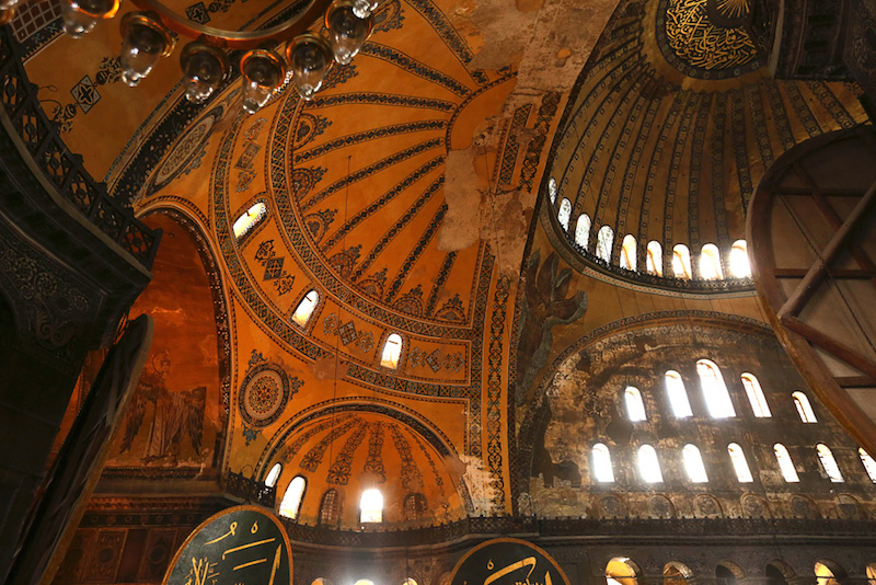 "Hagia Sophia is famous in particular for its massive dome, it is considered the epitome of Byzantine architecture and is said to have ""changed the history of architecture."