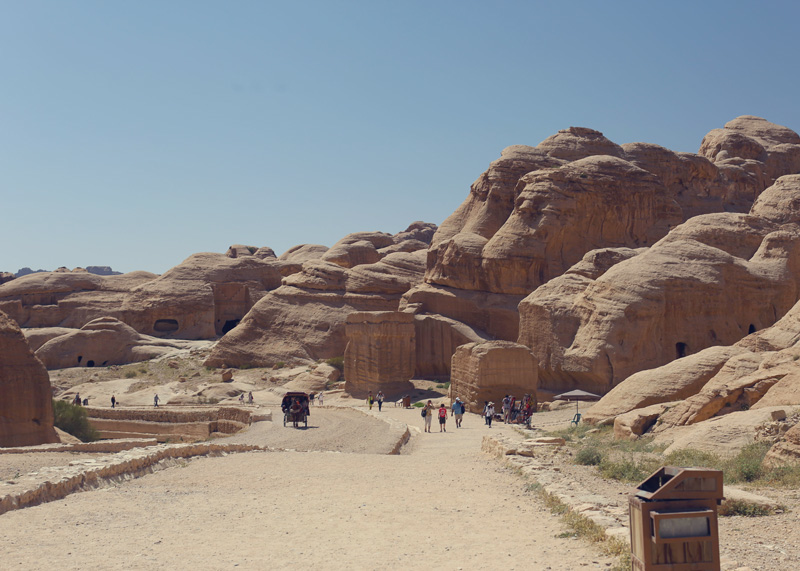 First view of petra and then there's a long walk! : )