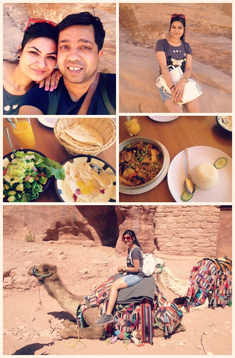 Day 2 in Petra. A long climb up and then the gourmet breakfast.