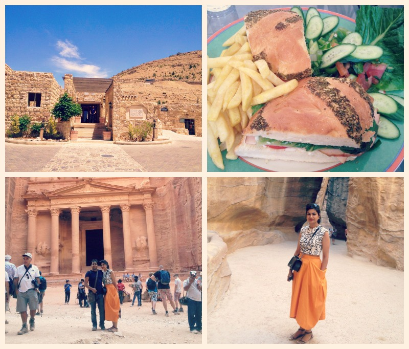 Our beuatiful hotel in Petra and happiness on discovering the treasury. : )