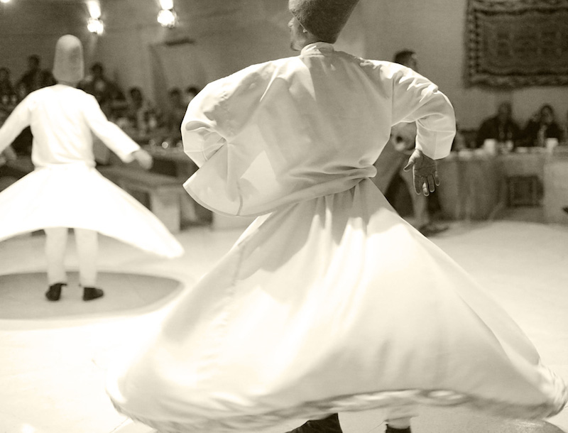 Devrish whirling dance- not to be missed!