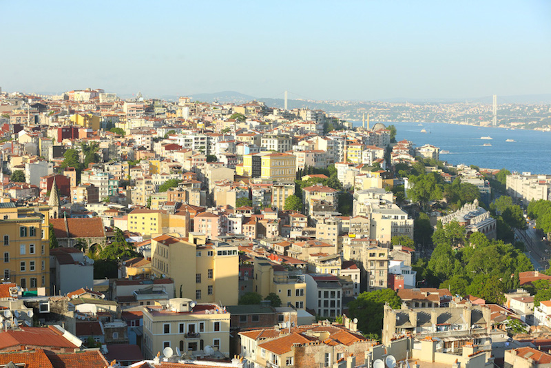 The view of Istanbul from Galata Tower