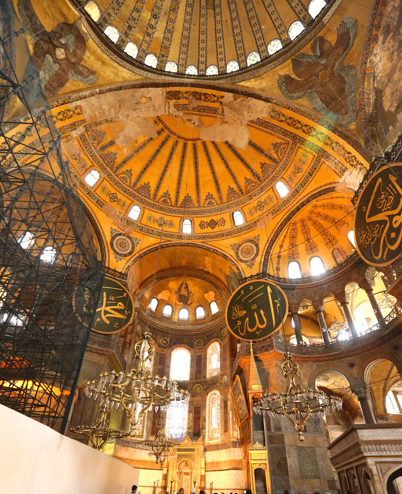 The stunning architecture inside Hagia Sophia