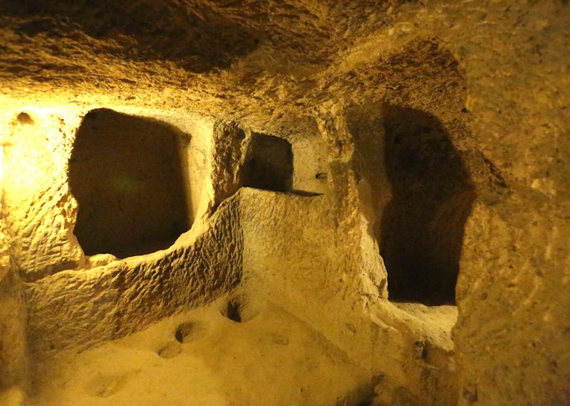 kaimakli yeralti - underground city