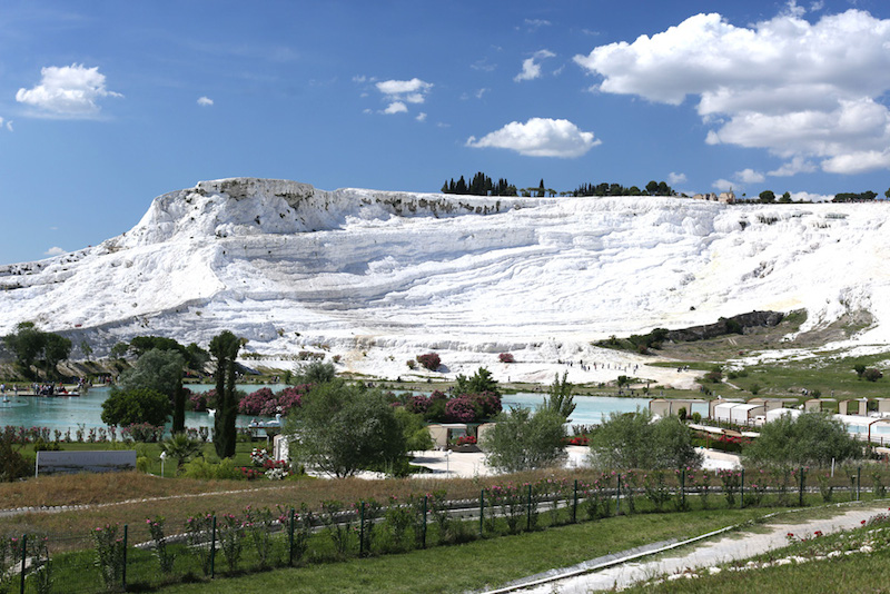 The breathtaking first view of Pammukale