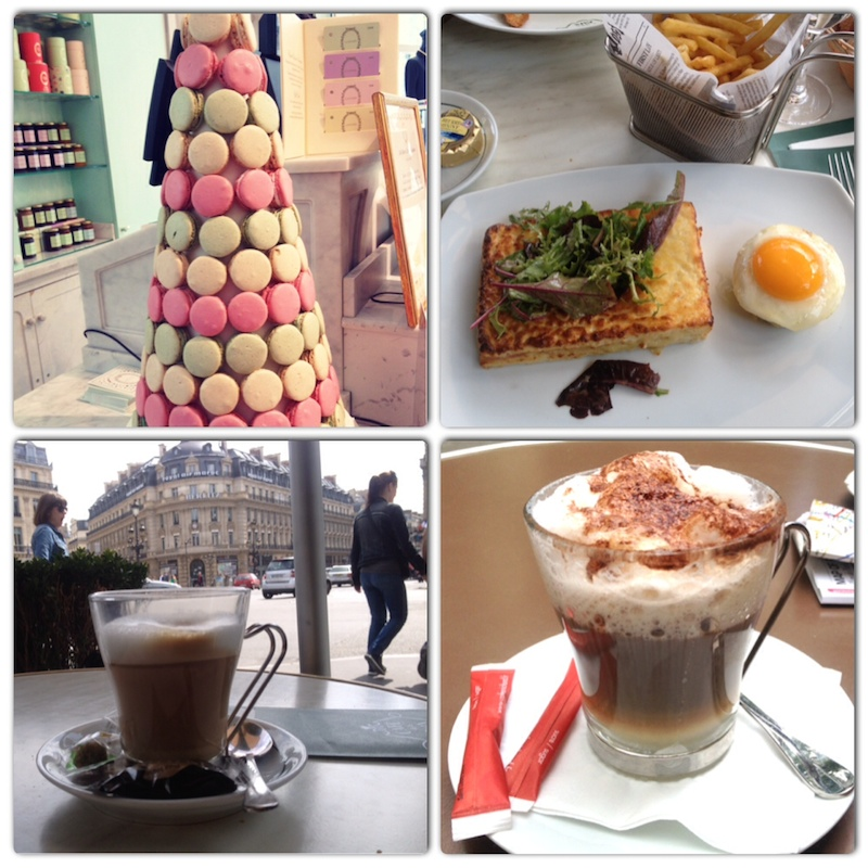Laduree Macarons, Toast and egg, coffee with a view, coffee on a random evening