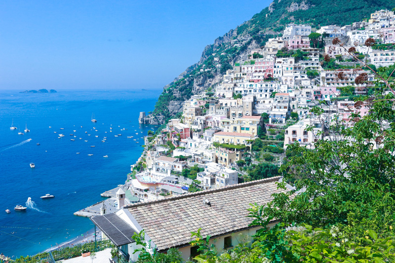 Pretty houses at Amalfi coast
