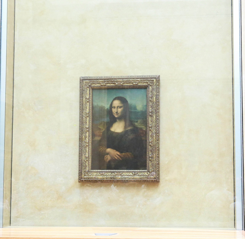 is monalisa smiling or not? : P