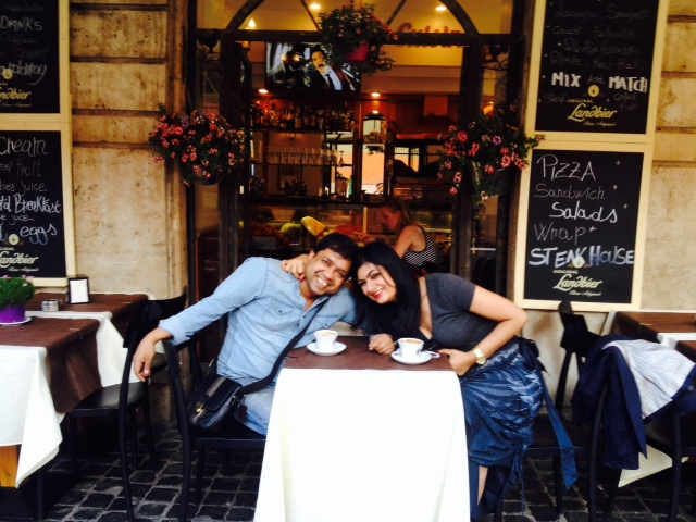 coffee break at the gorgeous little cafes all over Rome : )