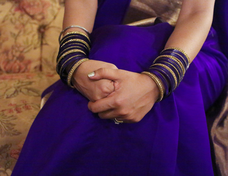 purple gold bangles