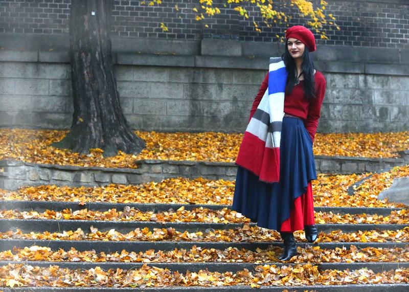 big scarf street style