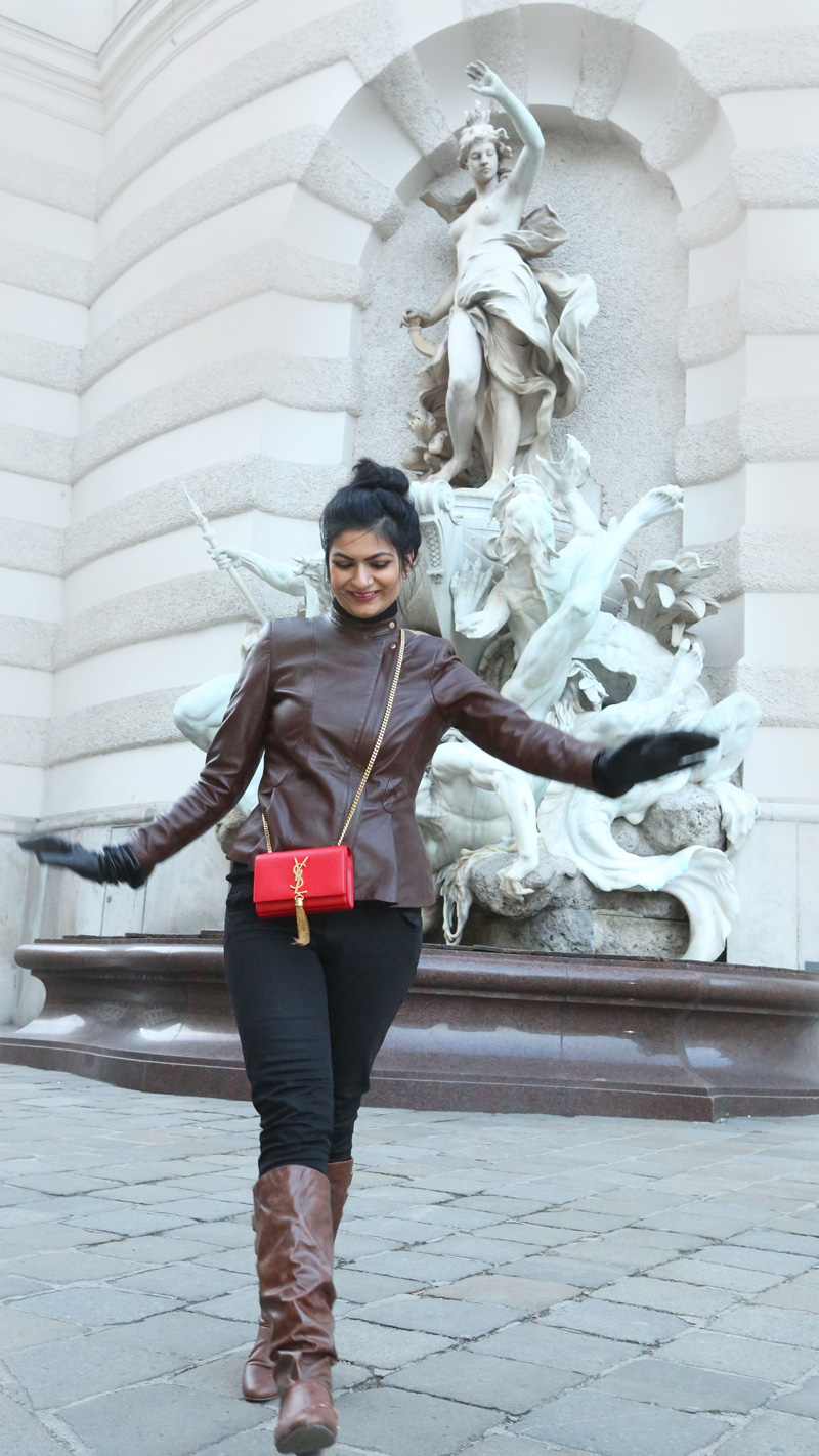 winter leather jacket style