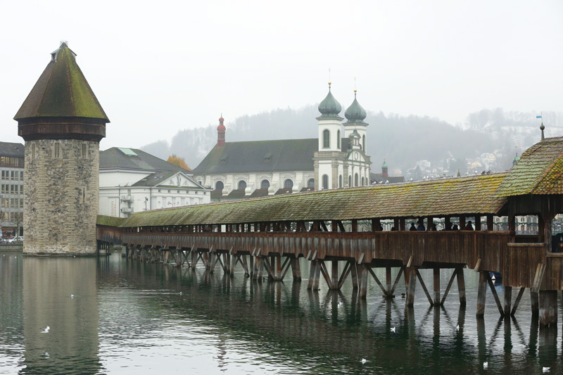 The Kapellbrücke (Chapel Bridge)