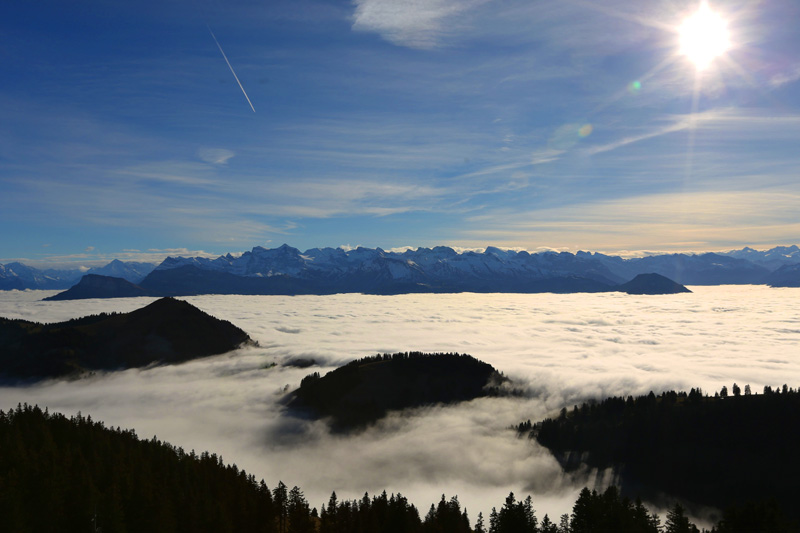 the magic of nature on mount rigi