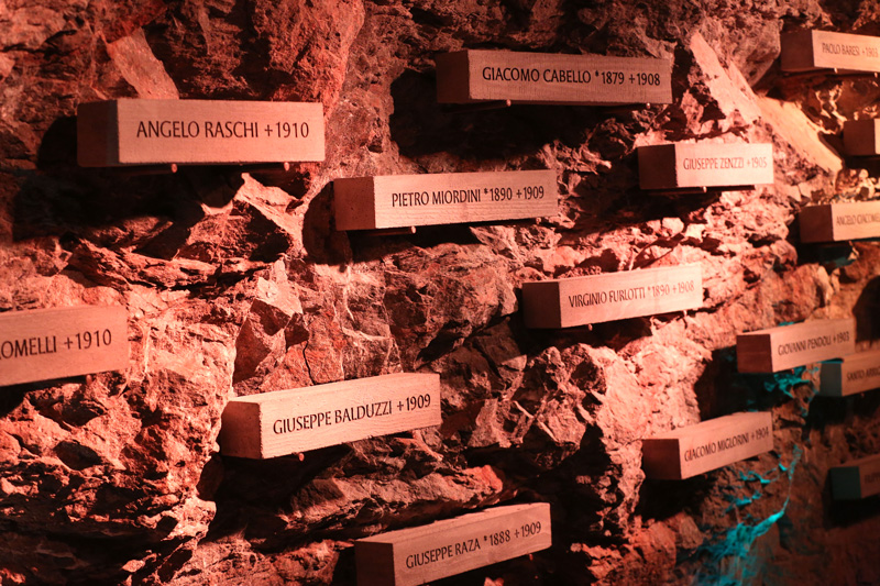 in memory of the workers who lost their lives in making the Jungfrau tunnel