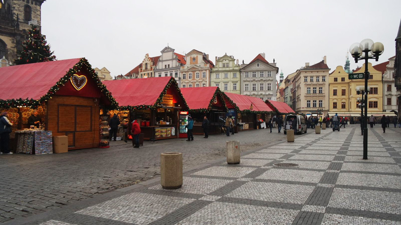 The view of christmas market