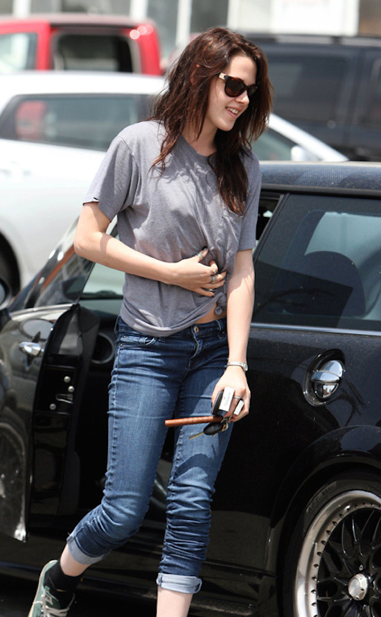 Kristen Stewart Heads to the Studio