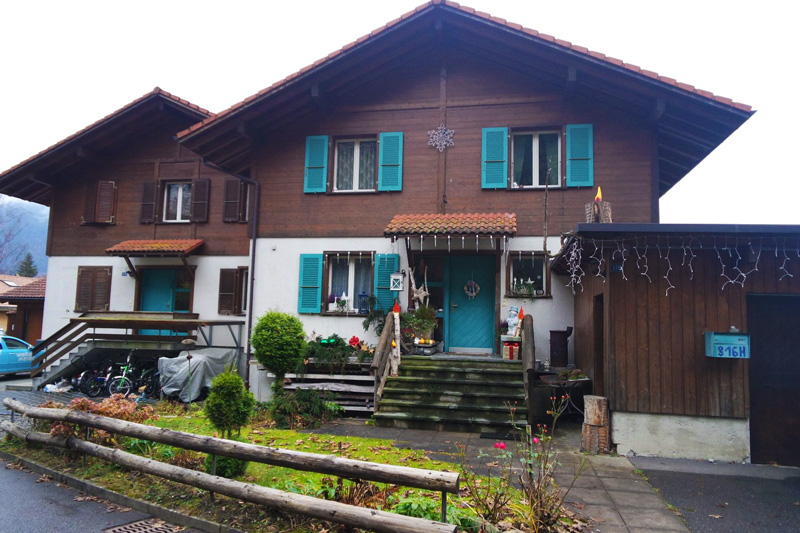 a beautiful house in a nearby village in Interlaken