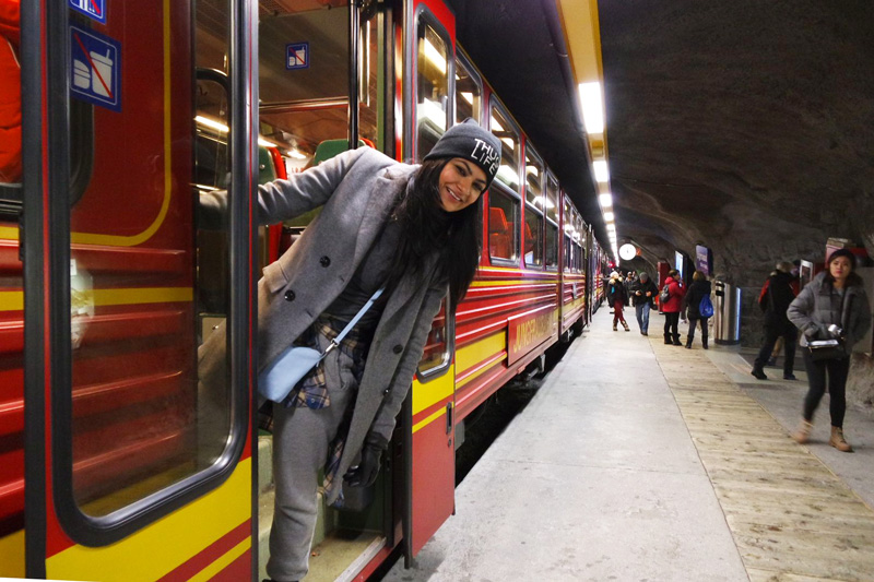 the chuck chuk train we went in to jungfrau
