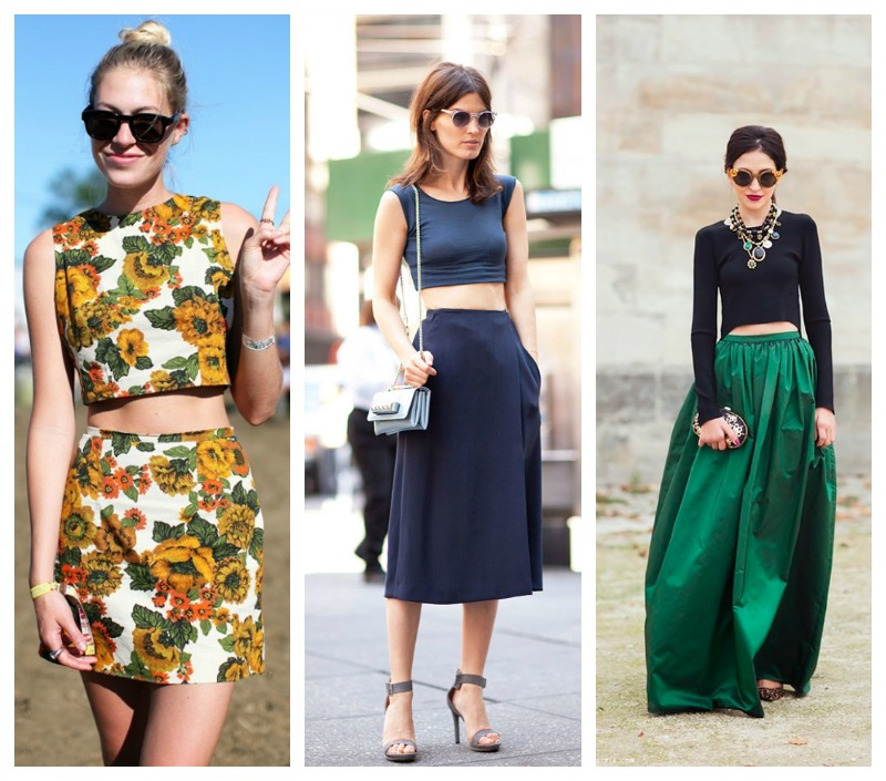 how to style crop top