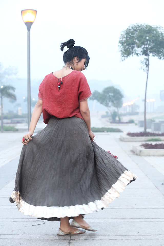 indian gota skirt