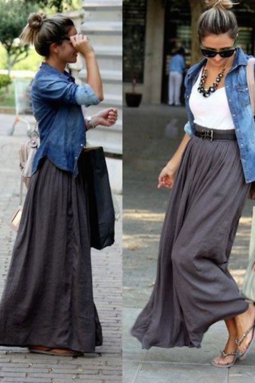 denim shirt street style