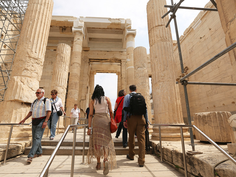 A walk to acropolis of athens