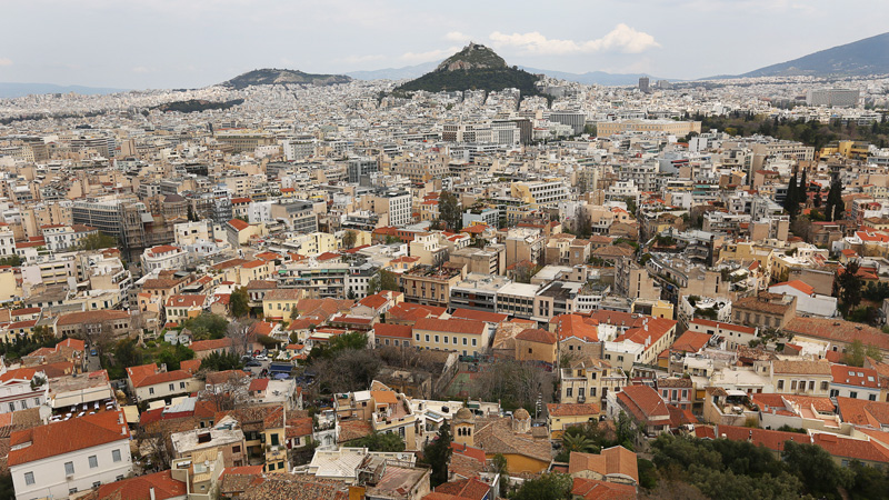 Athens city from the top, Reminded me of Prague.
