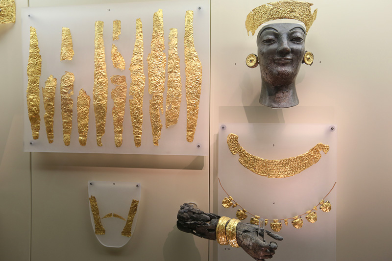 The ancient greek gold  jewellery
