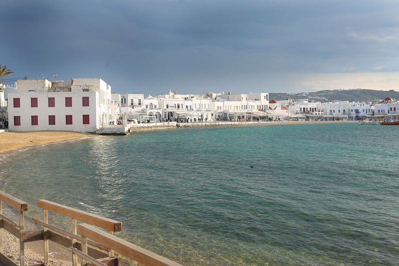 This gorgeous view on our first evening in mykonos